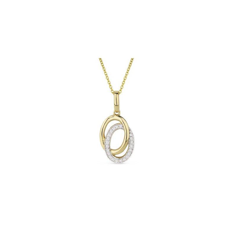 Kelley Collection  Interlocking Oval Diamond Pendant