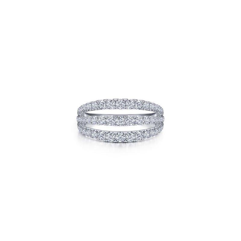 Gabriel NY Fine Jewelry Three Row Diamond Ring