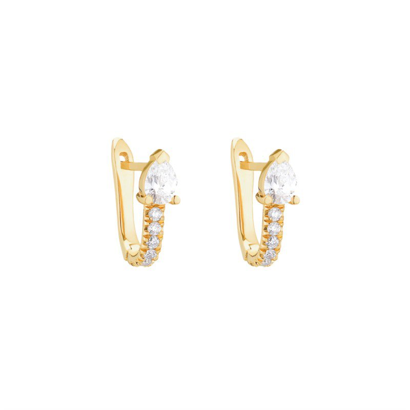 Kelley Collection  Serpent Diamond Huggies