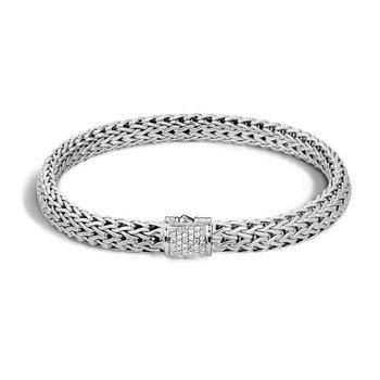 Classic Chain Bracelet with Diamonds