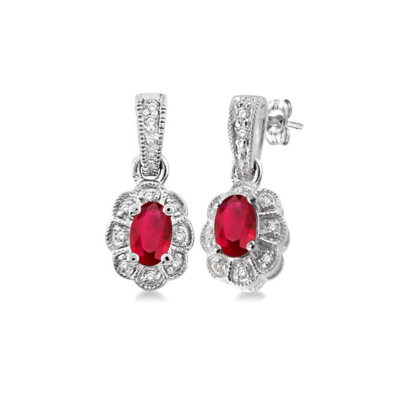 Kelley Collection  Ruby & Diamond Earrings