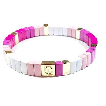 Tile Bracelet - Mini Pink Ombre