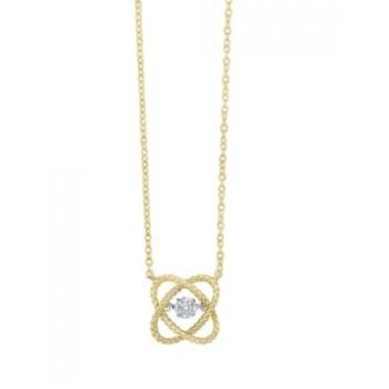 Loves Crossing Diamond Necklace