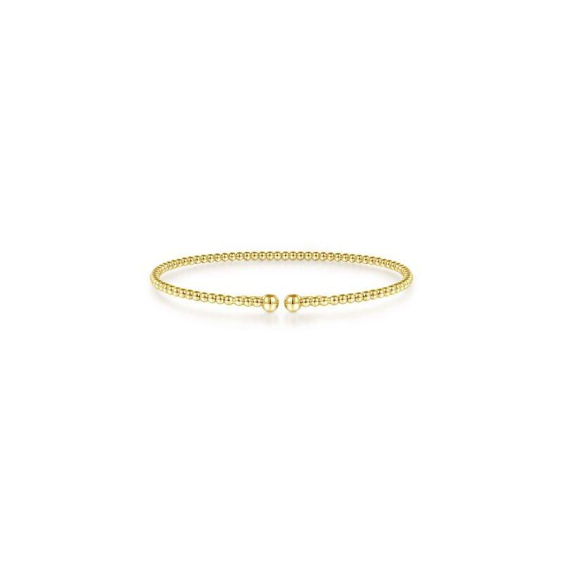 Gabriel NY Fine Jewelry Gold Beaded Bujukan Bangle
