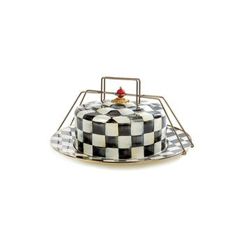 Courtly Check Enamel Cake Carrier
