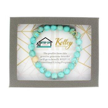 Blue Howlite Charity Bracelet (STEP UP Transitional Living Program)