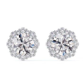 Center Of My Universe® Diamond Halo Studs