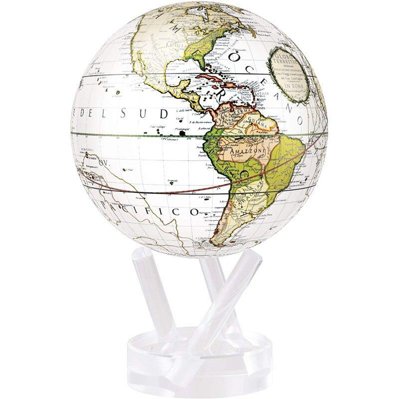 """Mova Globes 8.5"""" Cassini Terrestrial White Globe"""