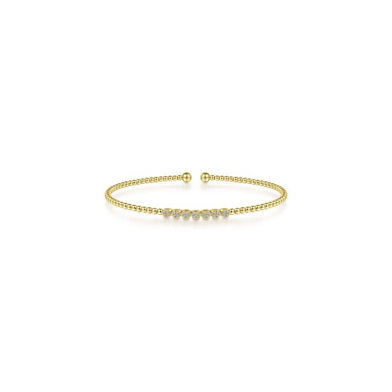 Gabriel NY Fine Jewelry Bujukan Diamond Bead Cuff Bracelet