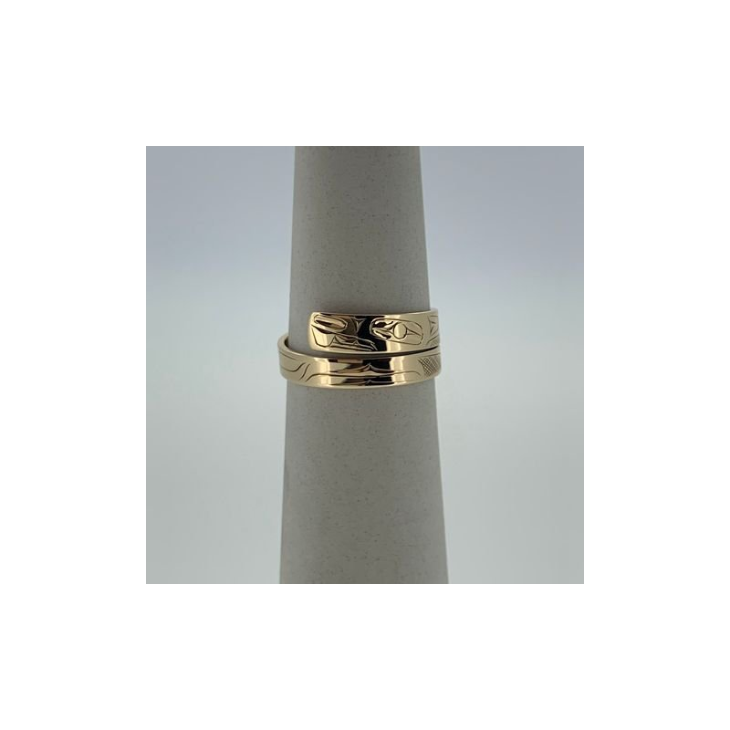 First Nations Jewellery Beaver Wrap Ring