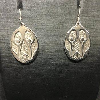 Hummingbird earrings by Bill Helin