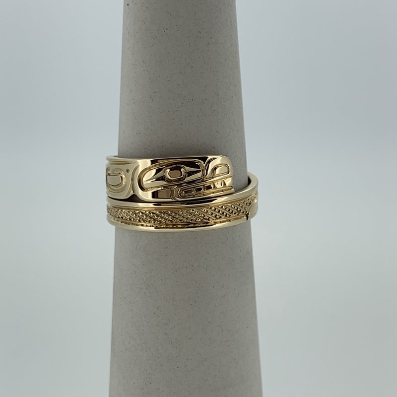 First Nations Jewellery Killerwhale Wrap Ring
