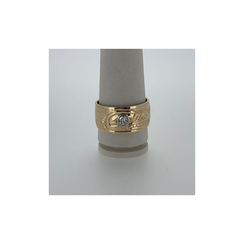 First Nations Jewellery Diamond Wolf Ring