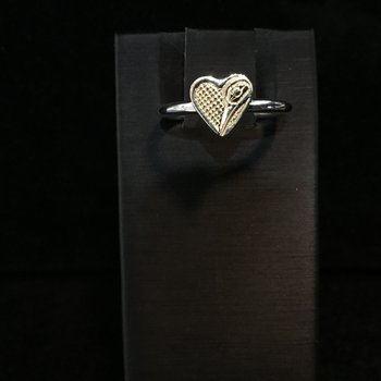 Hummingbird Heart Ring by Ron Jackson