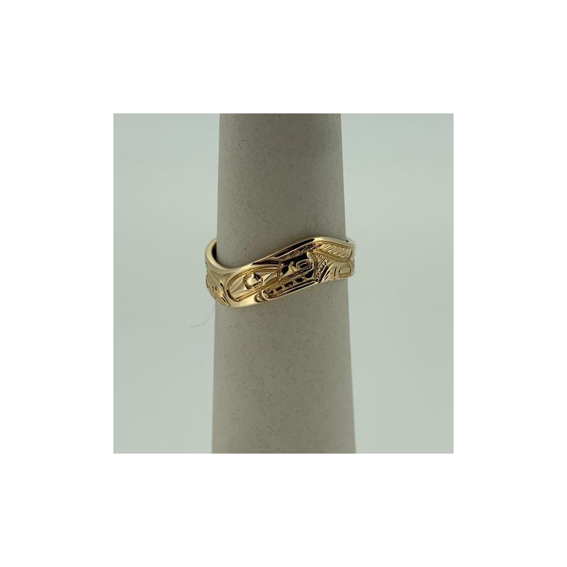 First Nations Jewellery Wolf Wave Ring