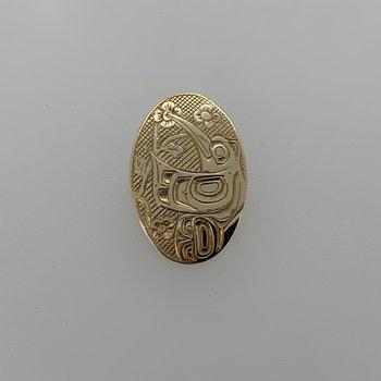 Hummingbirl oval pendant