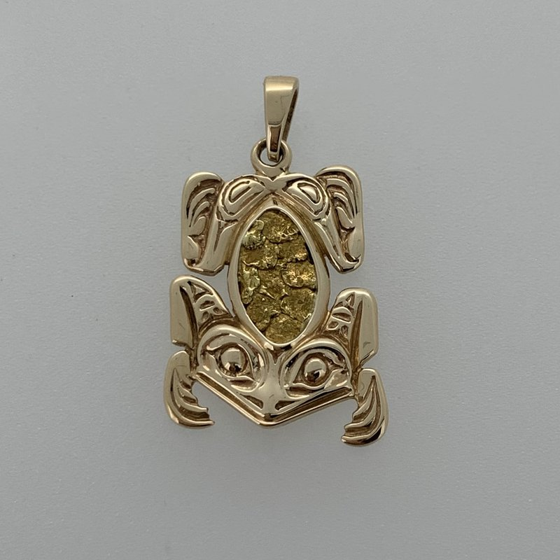 First Nations Jewellery Frog Nugget Pendant