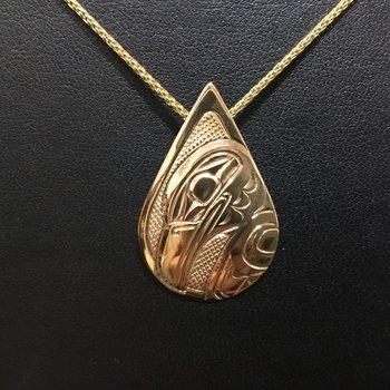 Raven pendant by Ron Jackson