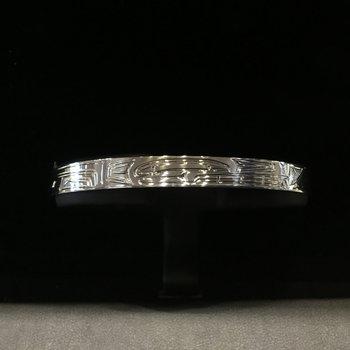 "Sterling sliver 1/4"" bear bracelet by Shirley Stanley"