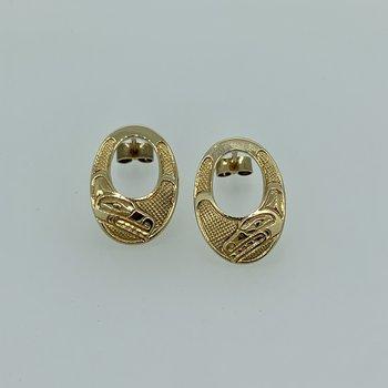 Wolf Earrings by Ron Jackson