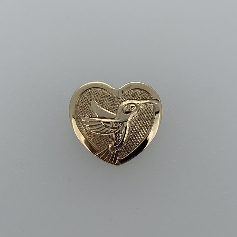 First Nations Jewellery Hummingbird Heart Pendant