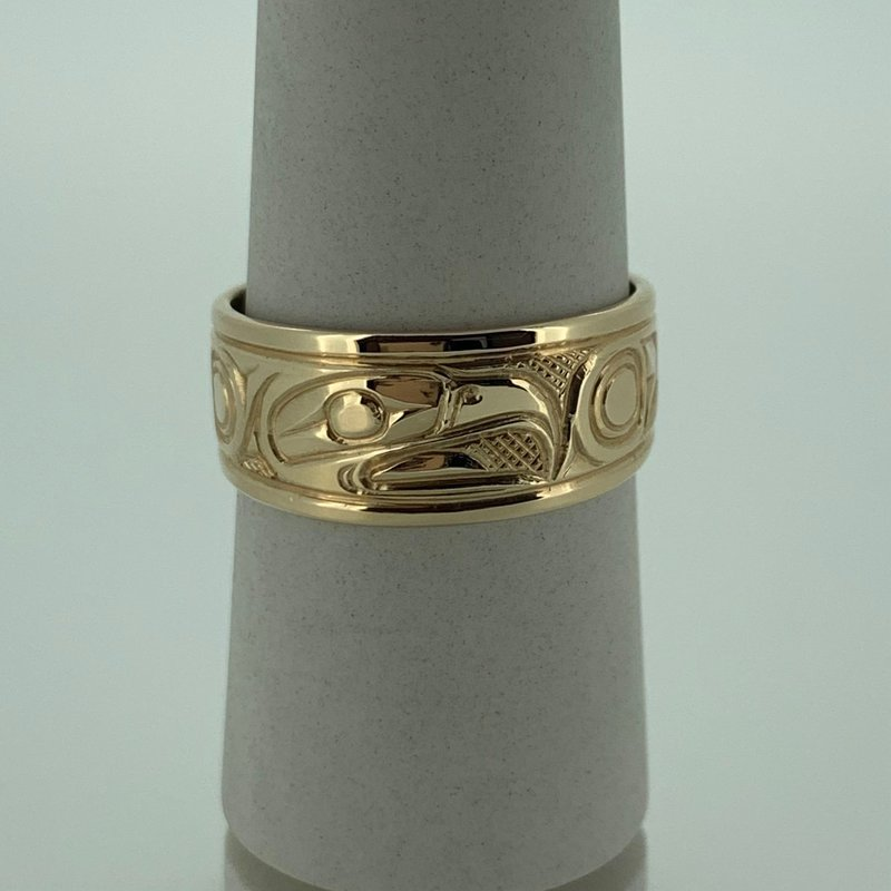 First Nations Jewellery Tapered Eagle Ring