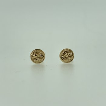 Eagle Small Button Earrings by Ron Jackson