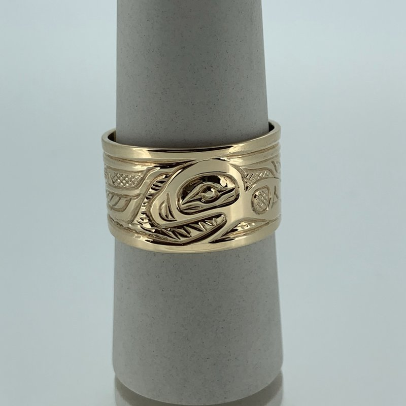 First Nations Jewellery Killer Whale Ring by Bill Helin