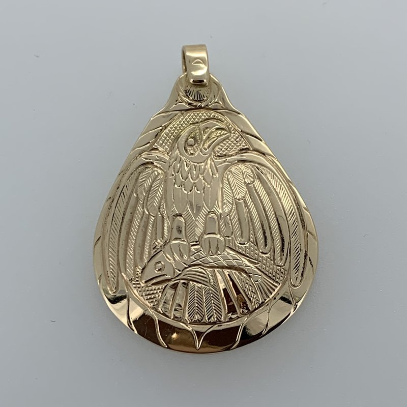 First Nations Jewellery Eagle Pendant by Bill Helin