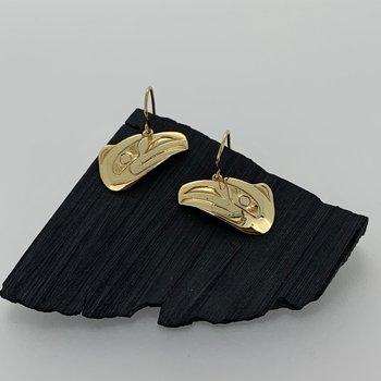Cutout Raven dangle earrings
