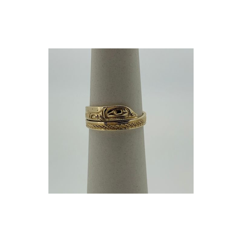 First Nations Jewellery Frog Wrap Ring