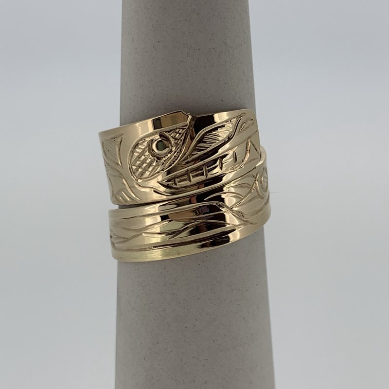 First Nations Jewellery Wolf Wrap Ring