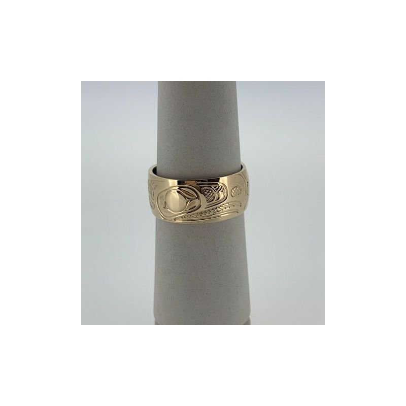 First Nations Jewellery Raven Ring by John Sterritt
