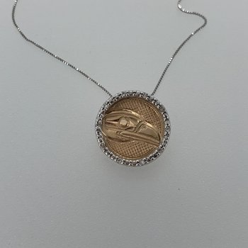 Raven Circle Diamond Pendant