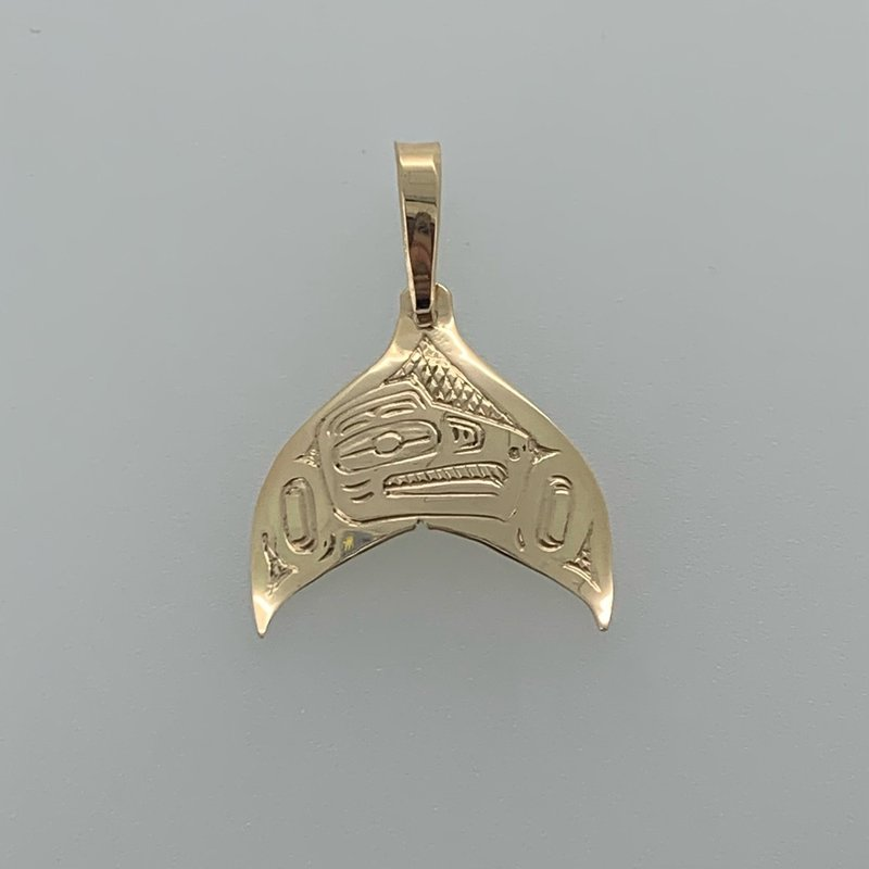 First Nations Jewellery Raven Whale Tail Pendant
