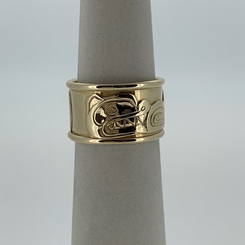 First Nations Jewellery Wolf Ring by Carmen Goertzen