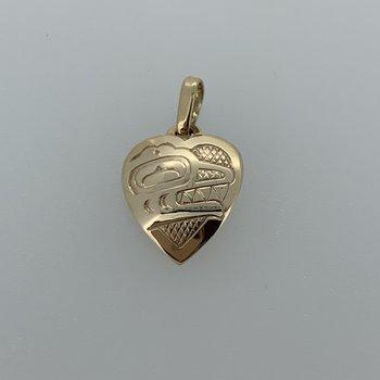 Killerwhale Heart Pendant