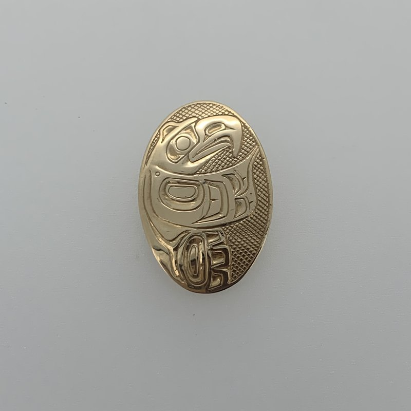 First Nations Jewellery Oval Eagle Pendant