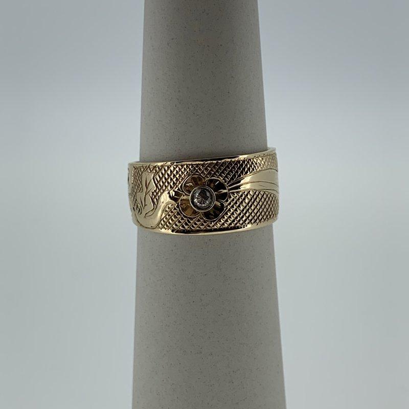First Nations Jewellery Hummingbird ring by Carmen Goertzen