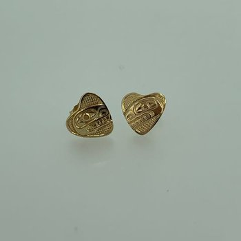 Killerwhale Heart Stud Earrings