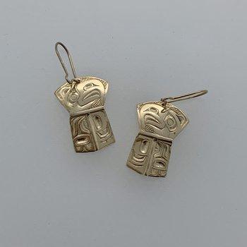 Eagle Shield dangle earrings by C Goertzen