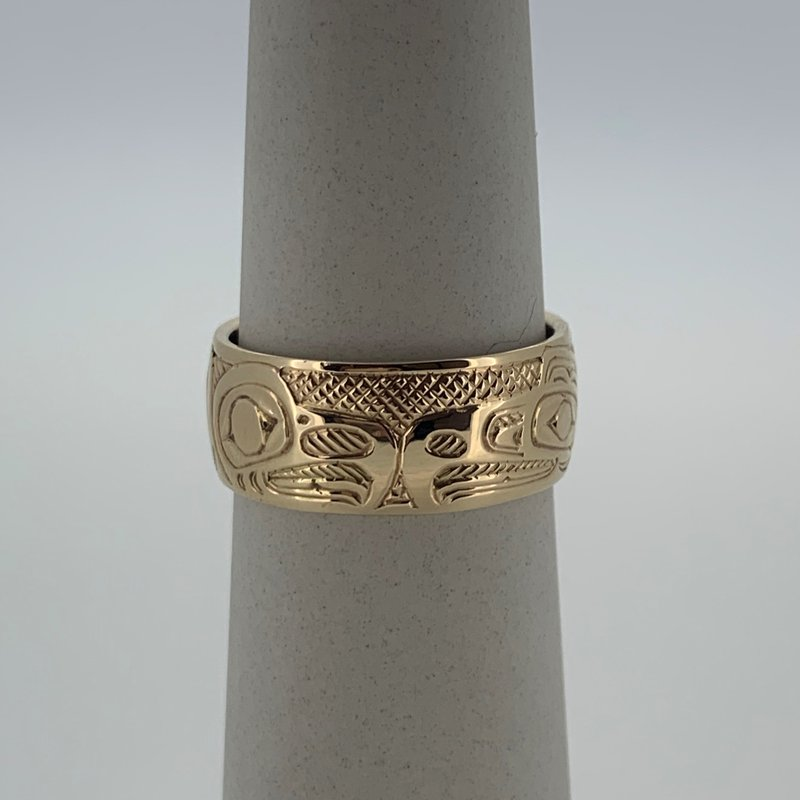 First Nations Jewellery Eagle/Raven Ring by John Sterritt
