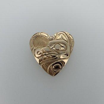 Heart Wolf Pendant