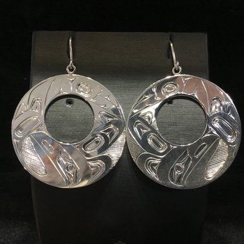 Raven Earrings by James Sawyer