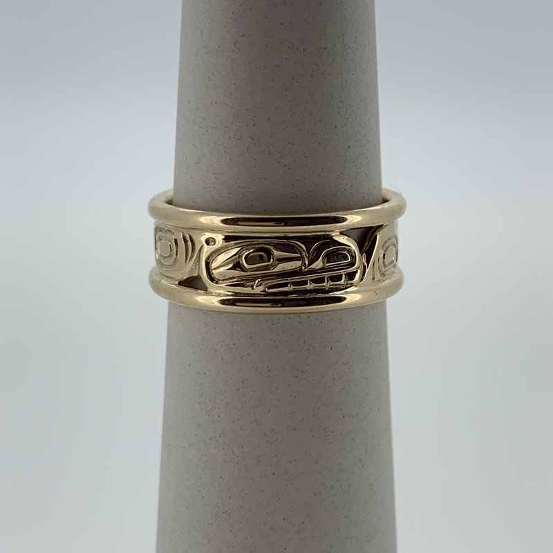 First Nations Jewellery Killerwhale Rail Ring