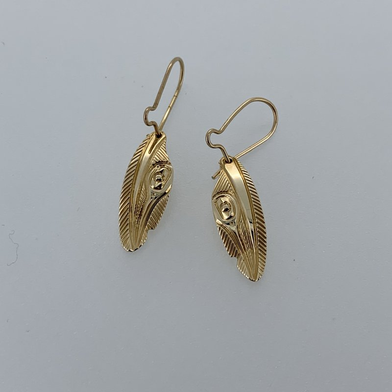 First Nations Jewellery Hummingbird Feather Earrings