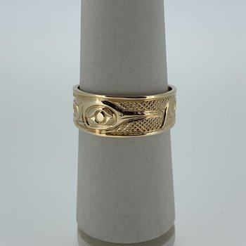 Tapered hummingbird ring