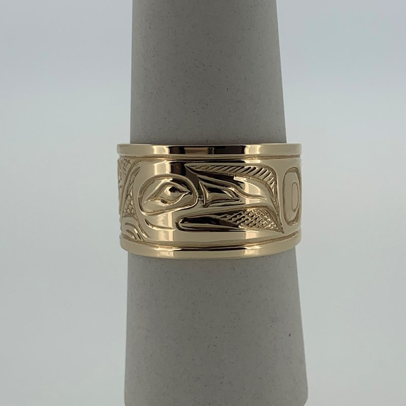 First Nations Jewellery Raven Ring by Bill Helin
