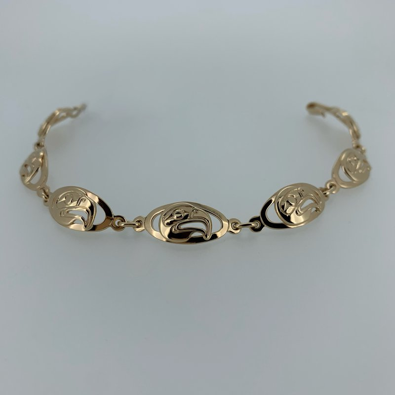 First Nations Jewellery Eagle Oval Link bracelet