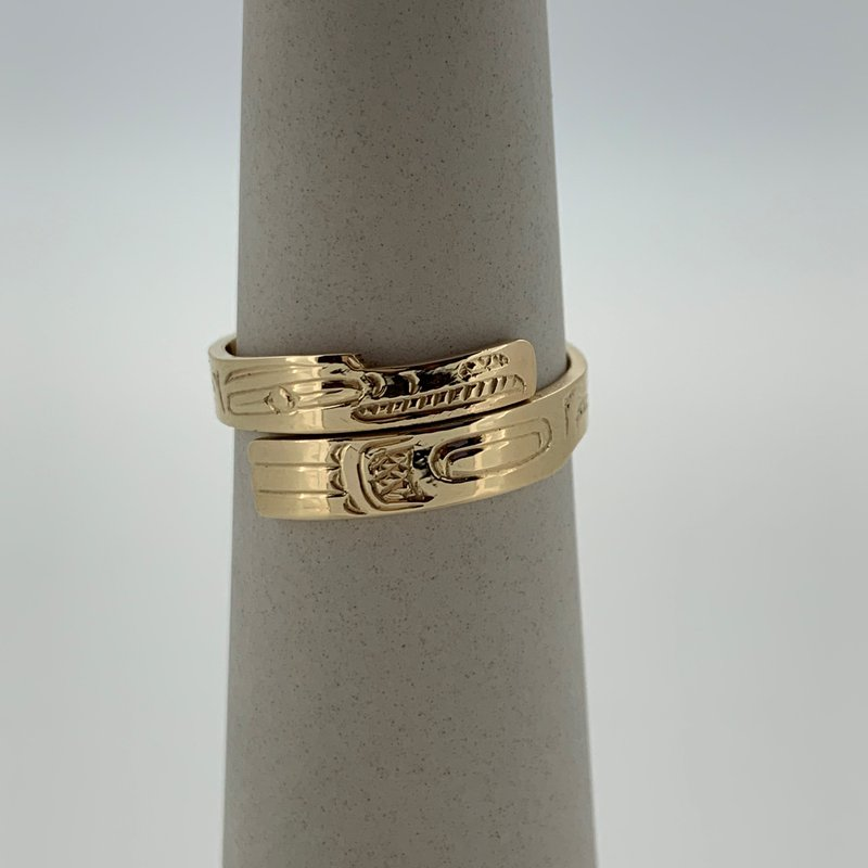 First Nations Jewellery Raven wrap ring